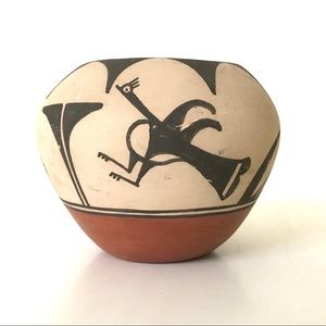 """Southwest Pottery Bowl - Red Clay, Sand, Coal 4"""""""